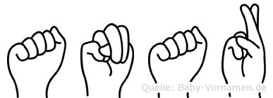 Anar im Fingeralphabet der Deutschen Gebärdensprache