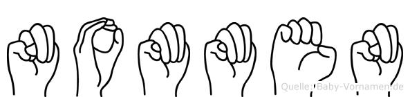 Nommen in Fingersprache für Gehörlose