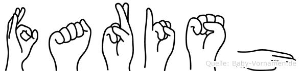 Farish im Fingeralphabet der Deutschen Gebärdensprache