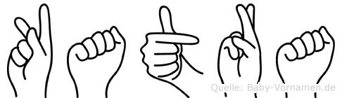 Katra im Fingeralphabet der Deutschen Gebärdensprache