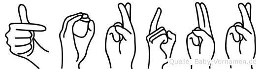 Tordur in Fingersprache für Gehörlose