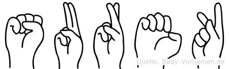 Surek im Fingeralphabet der Deutschen Gebärdensprache