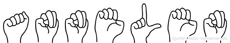 Annelen im Fingeralphabet der Deutschen Gebärdensprache