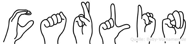 Carlin im Fingeralphabet der Deutschen Gebärdensprache