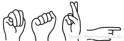 Marg in Fingersprache für Gehörlose