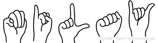 Milay in Fingersprache für Gehörlose
