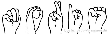 Noris im Fingeralphabet der Deutschen Gebärdensprache