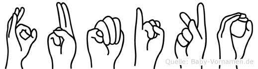 Fumiko in Fingersprache für Gehörlose