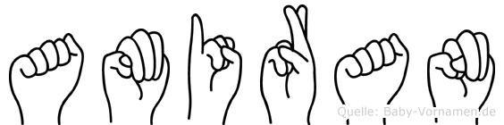 Amiran im Fingeralphabet der Deutschen Gebärdensprache
