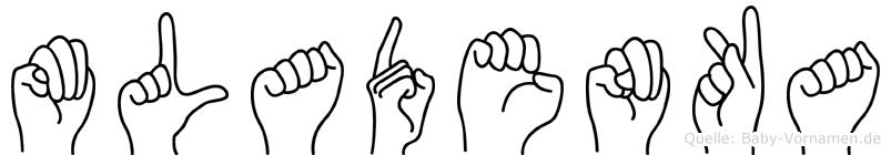 Mladenka im Fingeralphabet der Deutschen Gebärdensprache