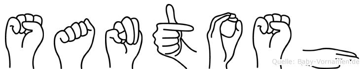 Santosh im Fingeralphabet der Deutschen Gebärdensprache