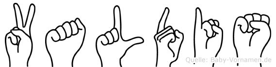 Valdis in Fingersprache für Gehörlose