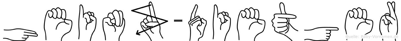 Heinz-Dietger im Fingeralphabet der Deutschen Gebärdensprache