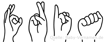 Fria in Fingersprache für Gehörlose