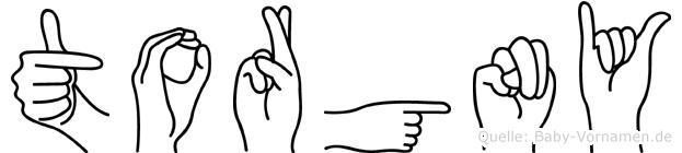 Torgny in Fingersprache für Gehörlose