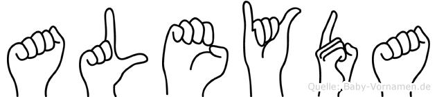 Aleyda in Fingersprache für Gehörlose