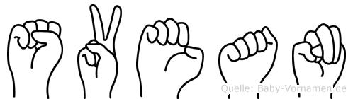 Svean im Fingeralphabet der Deutschen Gebärdensprache
