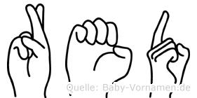 Red im Fingeralphabet der Deutschen Gebärdensprache