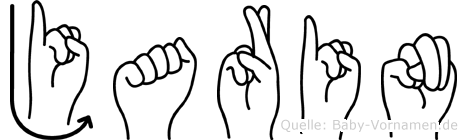 Jarin im Fingeralphabet der Deutschen Gebärdensprache