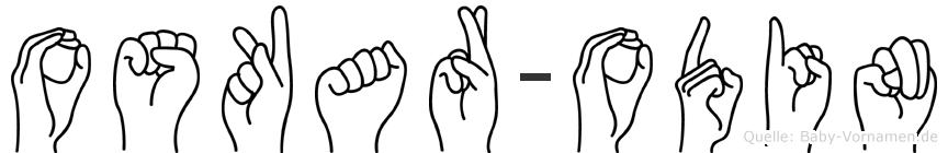 Oskar-Odin im Fingeralphabet der Deutschen Gebärdensprache