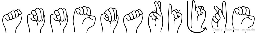 Annemarijke im Fingeralphabet der Deutschen Gebärdensprache