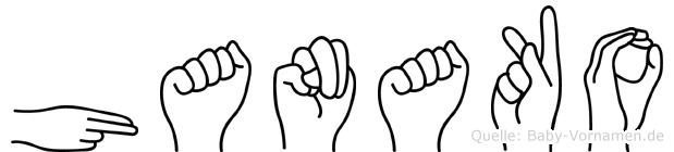 Hanako im Fingeralphabet der Deutschen Gebärdensprache