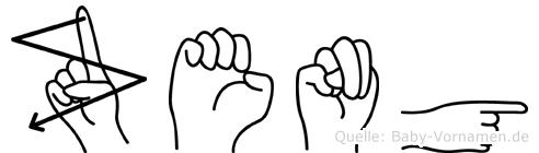 Zeng in Fingersprache für Gehörlose