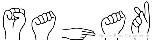 Sahak im Fingeralphabet der Deutschen Gebärdensprache