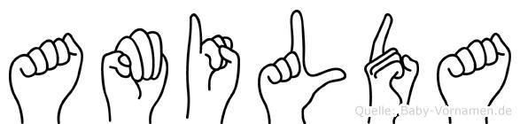 Amilda in Fingersprache für Gehörlose