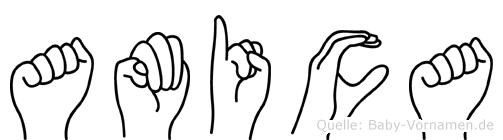 Amica in Fingersprache für Gehörlose