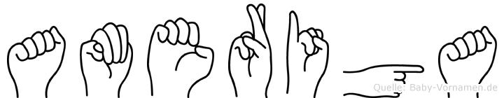 Ameriga in Fingersprache für Gehörlose