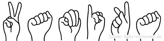 Vamika im Fingeralphabet der Deutschen Gebärdensprache