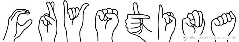 Crystina in Fingersprache für Gehörlose