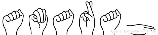 Amarah im Fingeralphabet der Deutschen Gebärdensprache