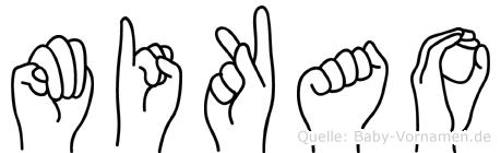 Mikao in Fingersprache für Gehörlose