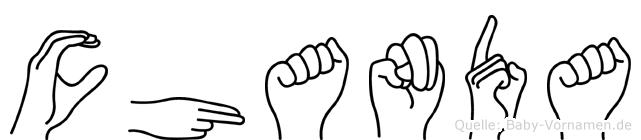 Chanda im Fingeralphabet der Deutschen Gebärdensprache