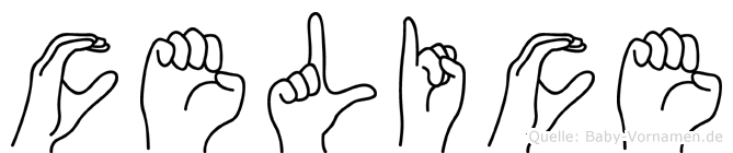 Celice im Fingeralphabet der Deutschen Gebärdensprache
