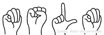 Müslüm im Fingeralphabet der Deutschen Gebärdensprache