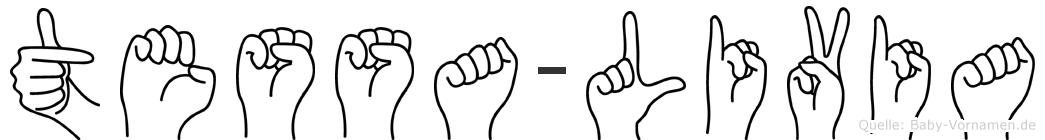 Tessa-Livia im Fingeralphabet der Deutschen Gebärdensprache