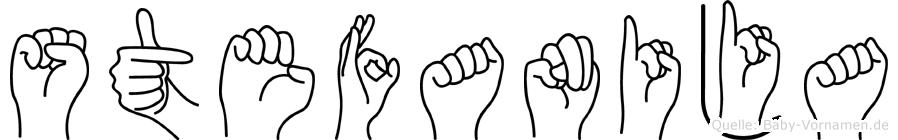 Stefanija in Fingersprache für Gehörlose