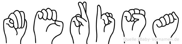 Merisa im Fingeralphabet der Deutschen Gebärdensprache