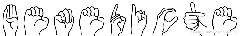 Benedicte im Fingeralphabet der Deutschen Gebärdensprache