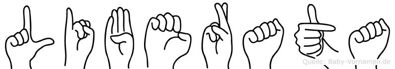 Liberata im Fingeralphabet der Deutschen Gebärdensprache