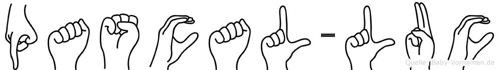 Pascal-Luc im Fingeralphabet der Deutschen Gebärdensprache