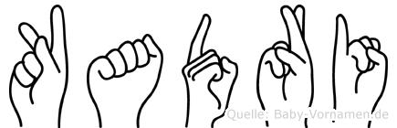 Kadri im Fingeralphabet der Deutschen Gebärdensprache