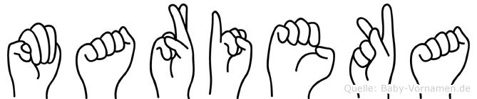 Marieka in Fingersprache für Gehörlose