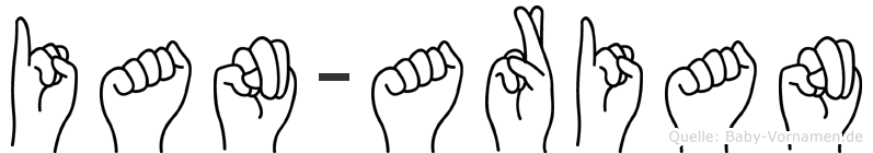 Ian-Arian im Fingeralphabet der Deutschen Gebärdensprache