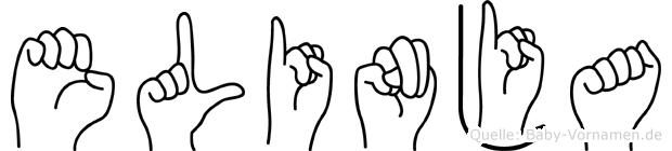 Elinja in Fingersprache für Gehörlose