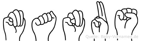 Manus in Fingersprache für Gehörlose