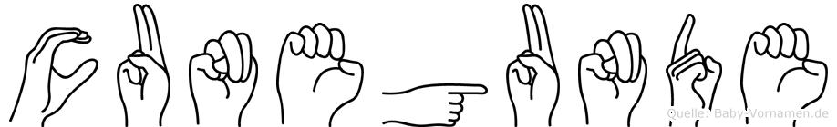 Cunegunde in Fingersprache für Gehörlose